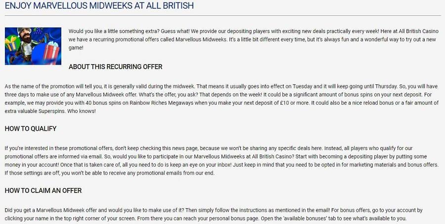 All British Casino Promotions 2