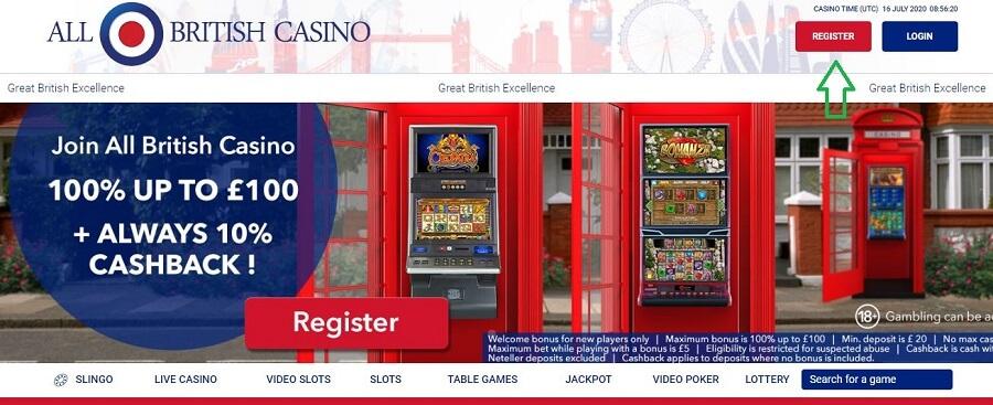 All British Casino Register 1