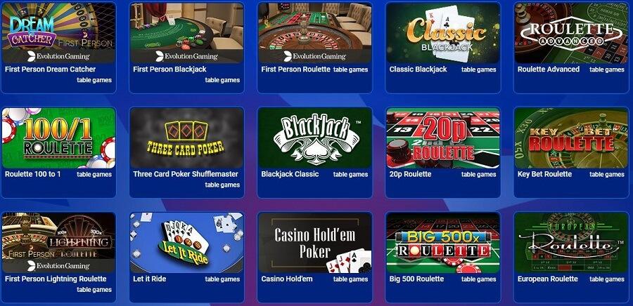 All British Casino Table Games