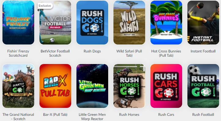 BetVictor Casino Instant Win Games