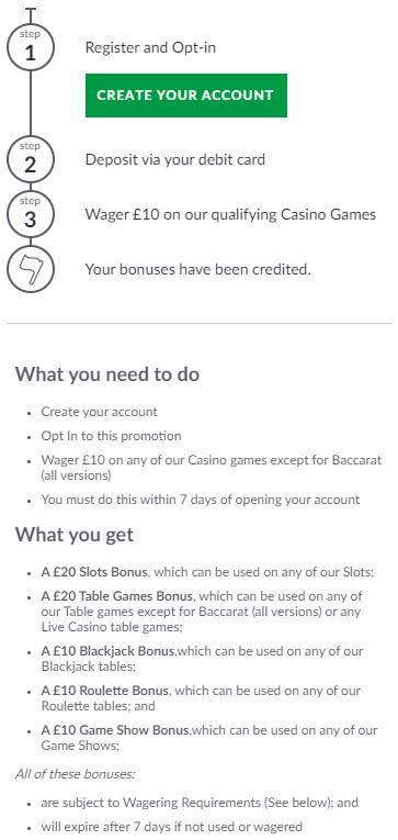 BetVictor Casino Welcome Bonus 2