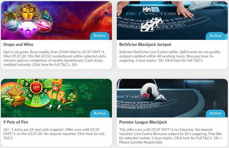 BetVictor Promotions