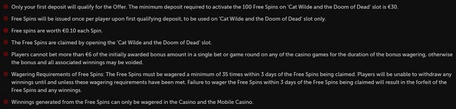 Betsafe Casino Welcome Bonus 3
