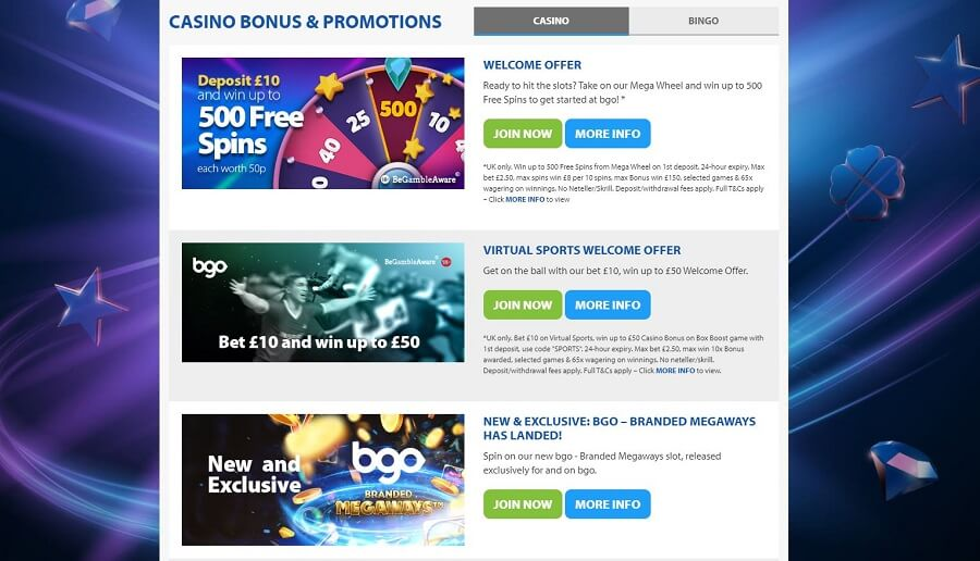 Bgo Casino Promotions
