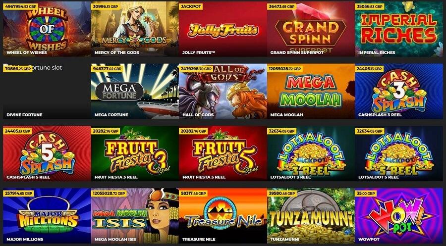 Energy Casino Daily Jackpots