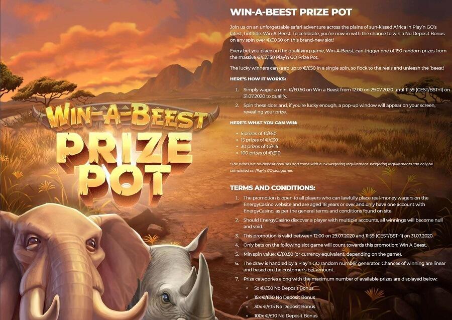 Energy Casino Promotions 2