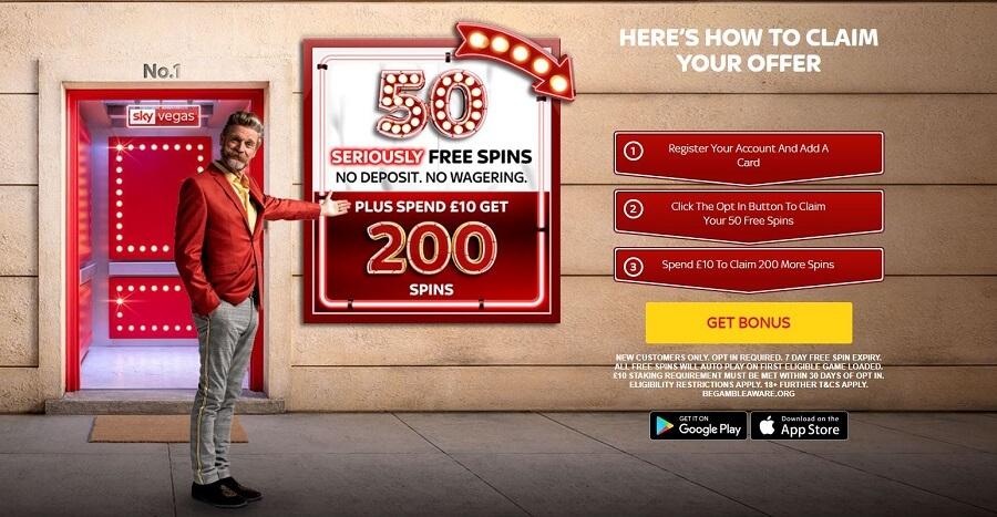 Free Spins No Deposit Sky Vegas