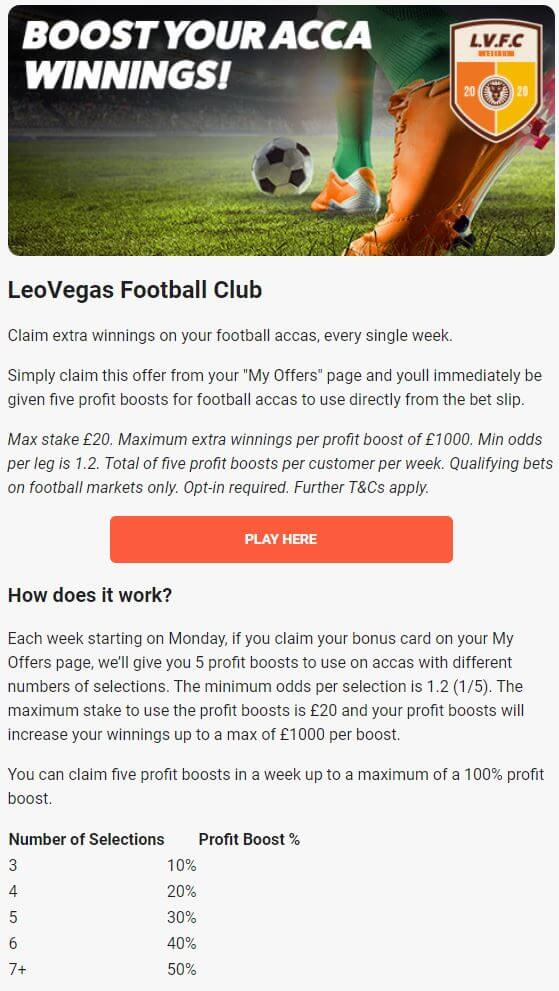 LeoVegas Bookmaker Promotions 2