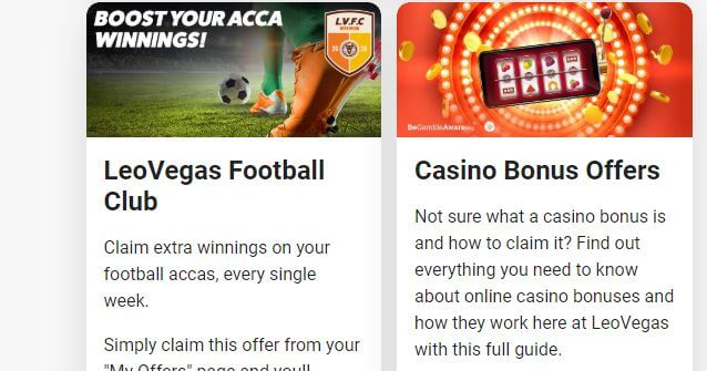 LeoVegas Bookmaker Promotions