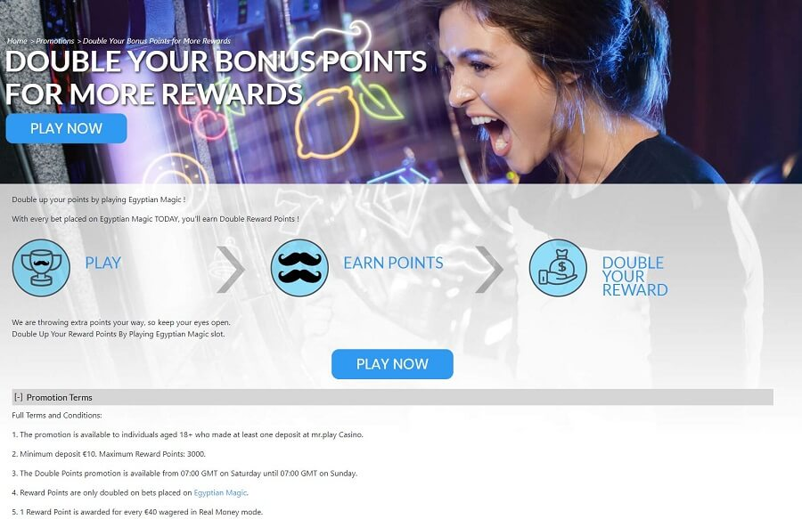 Mr Play Casino Promotions 2