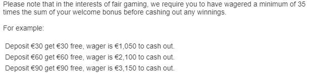 Mr Play Wagering Requirements