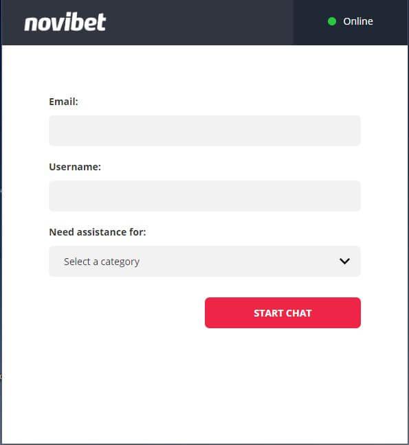 Novibet Casino Contact