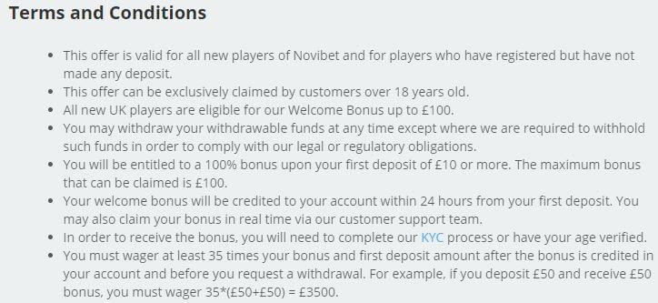 Novibet Casino Welcome Bonus 2