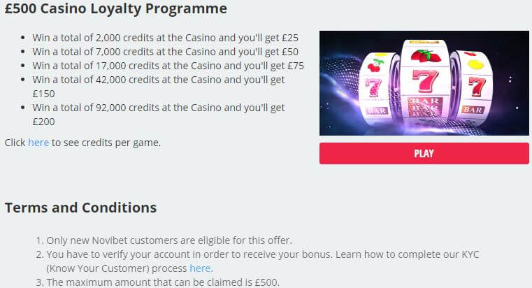 Novibet Casino Welcome Bonus 3