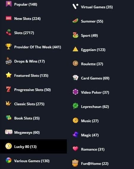 Novibet Game Variety