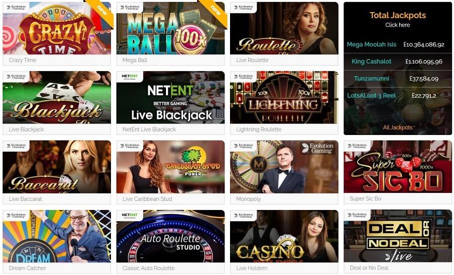 Playzee Live Casino