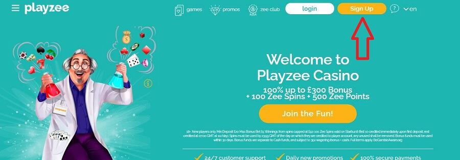 Playzee Register 1