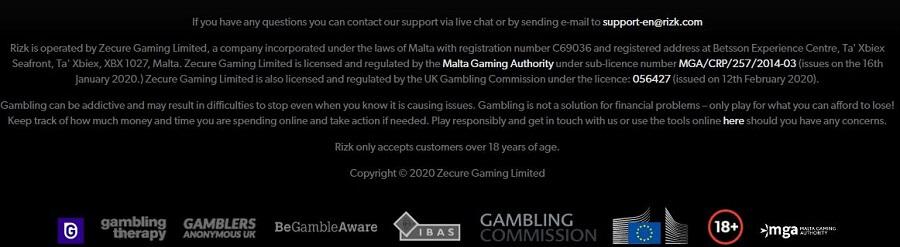 Rizk Casino Security
