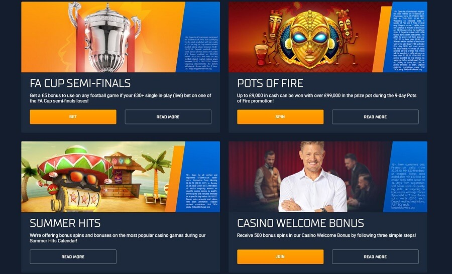 STS Casino Promotions