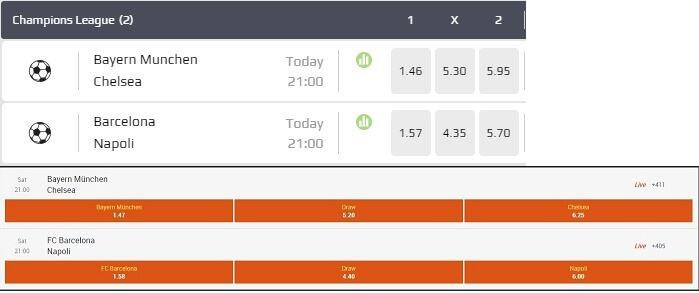 NetBet vs 888Sport Odds