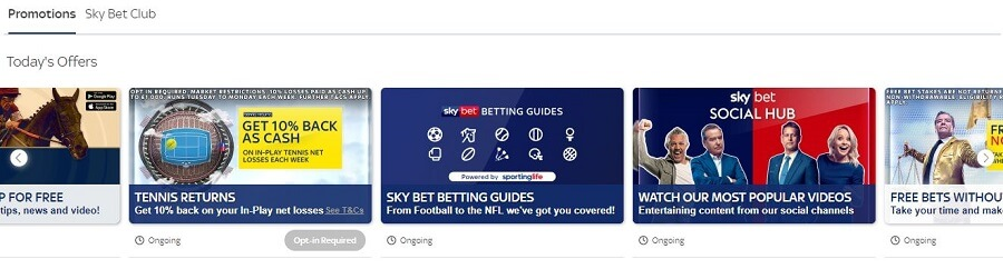 SkyBet Promotions