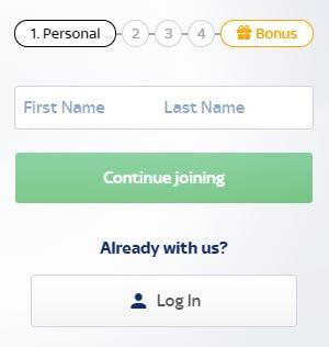 SkyBet Register 2