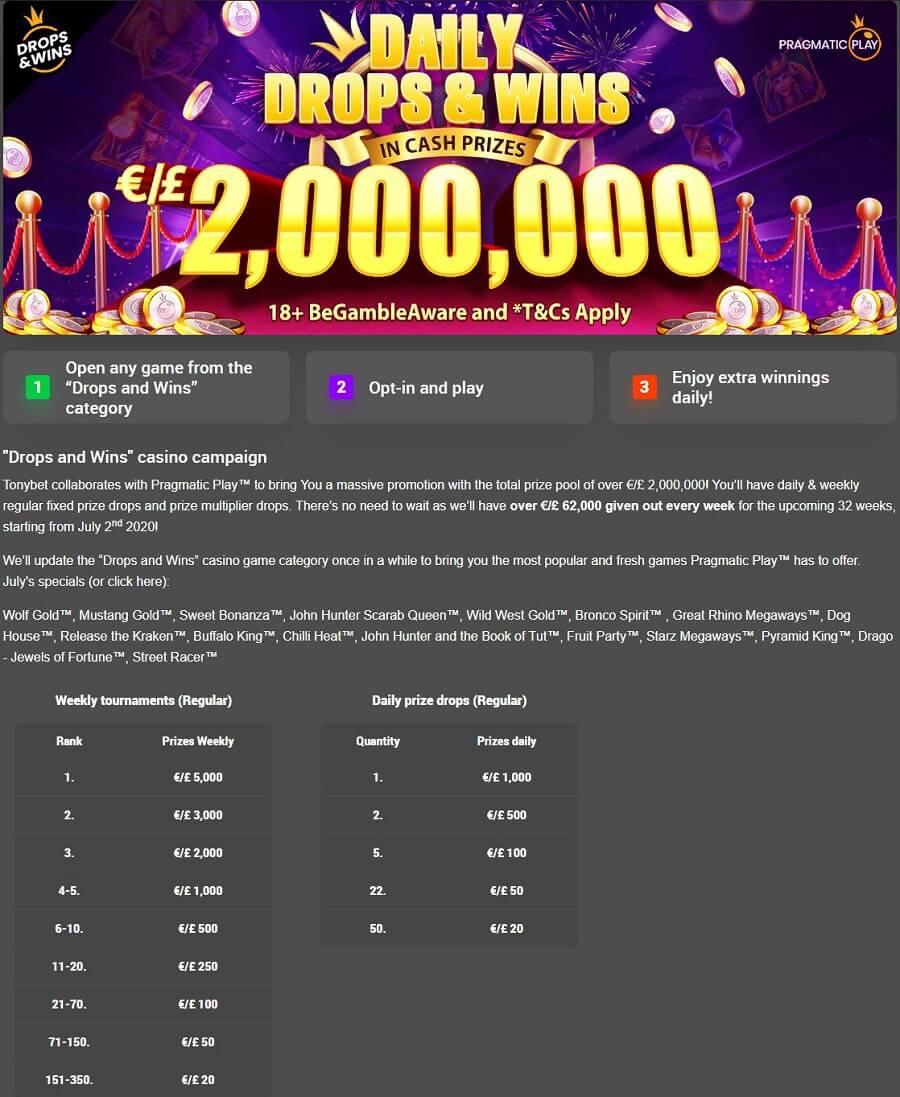 Tonybet Casino Promotions 3