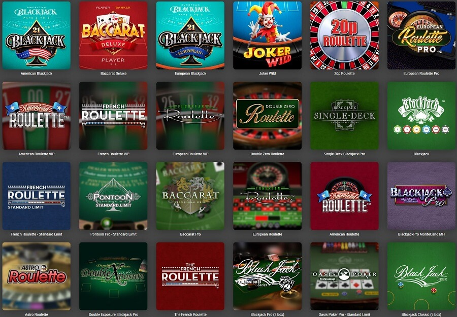 Tonybet Casino Table Games
