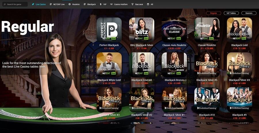 Tonybet Live Casino